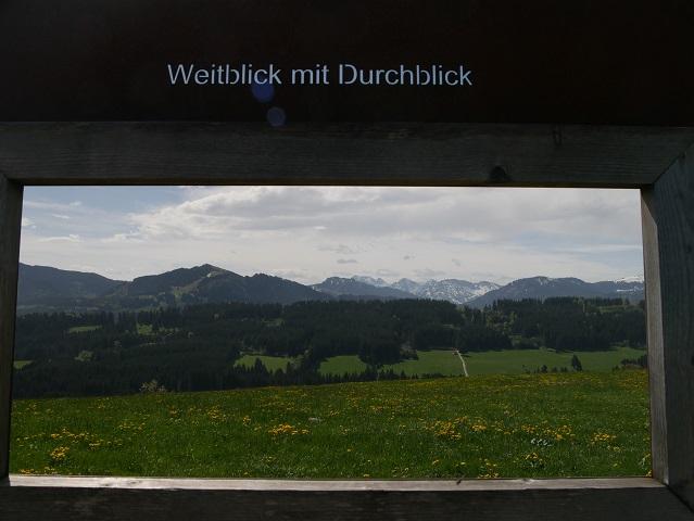 Durchblick am Panoramaweg Oy-Mittelberg