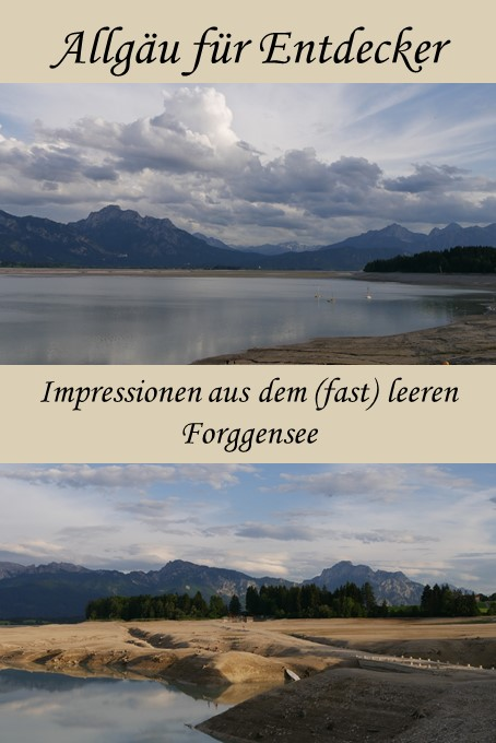 Impressionen aus dem fast leeren Forggensee 2018