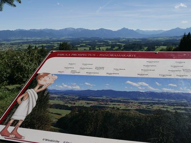 Panoramakarte am Jägersteig auf dem Auerberg