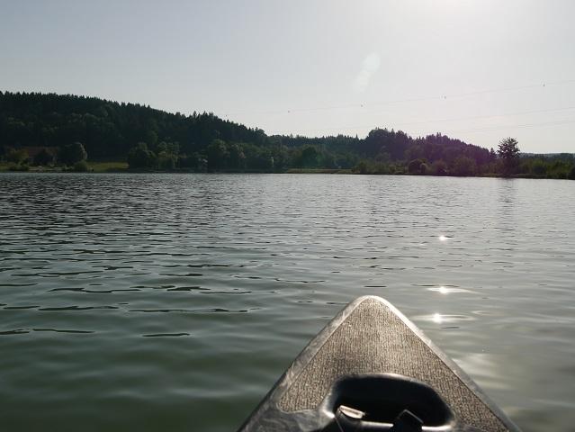 Kanu vor der Illerstaustufe Lautrach