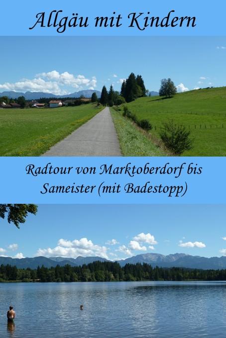 Radtour mit Kindern von Marktoberdorf bis Sameister #allgäu