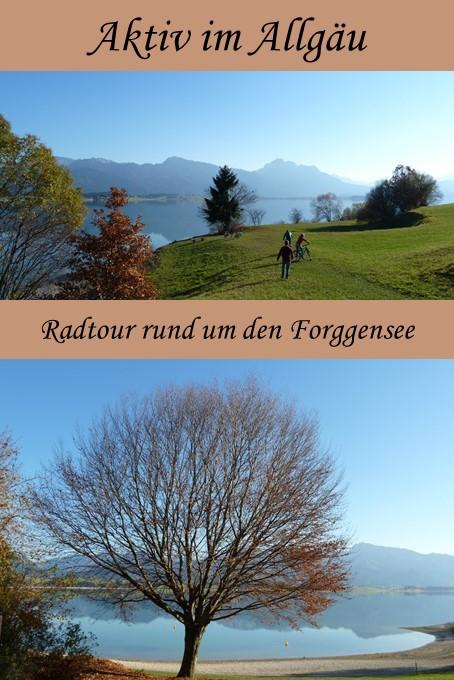 Radtour rund um den Forggensee