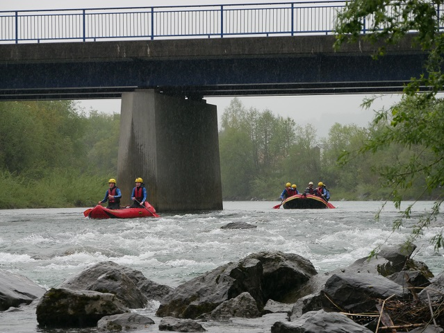 Allgäu Rafting im Regen