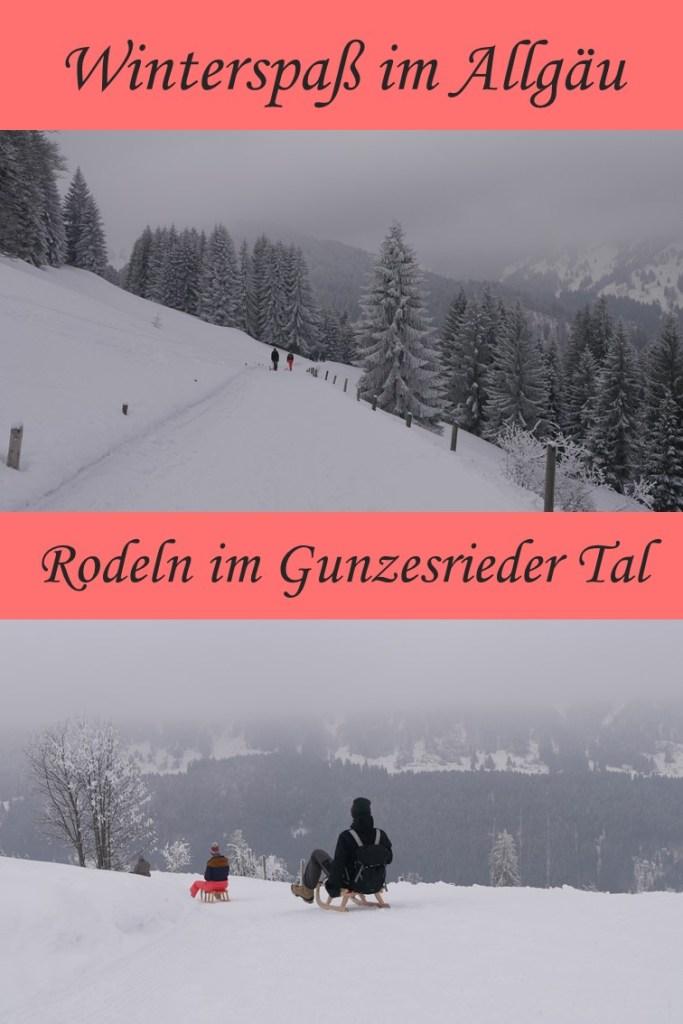 Winterwanderung zum Rodeln im Gunzesrieder Tal