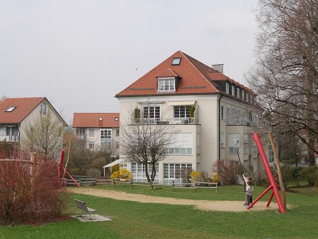 Seilrutsche am Wasserspielplatz in Isny