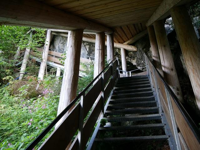 Treppe zum Eingang der Sturmannshöhle