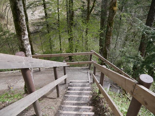 Treppe zur Aussichtsplattform