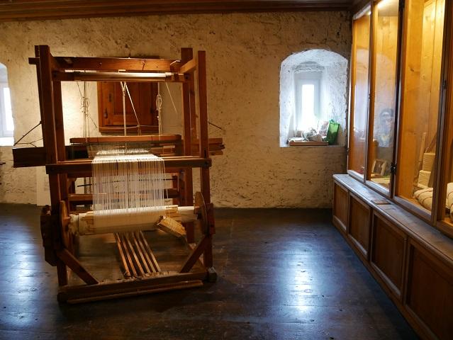 Webstuhl im Wassertor-Museum in Isny