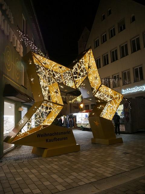 Weihnachtsmarkt Kaufbeuren - Leuchtstern