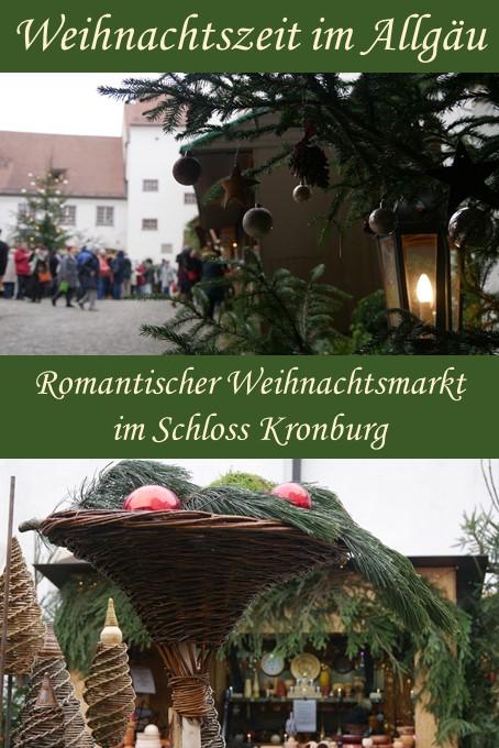 Romantischer Weihnachtsmarkt Schloss Kronburg im Unterallgäu