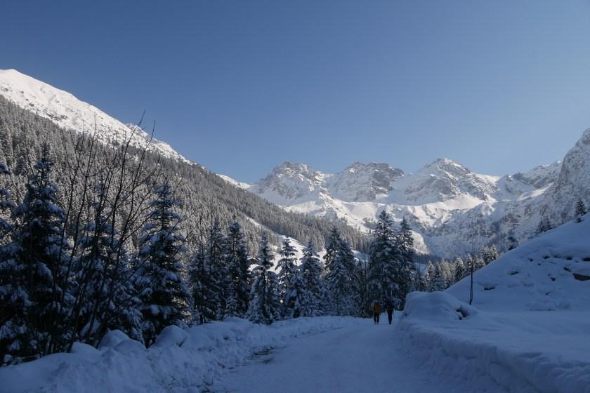 Winterwanderung im Kleinwalsertal ins schöne Wildental