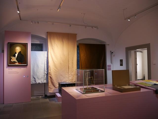 Ausstellungsraum über die Kaufmannsfamilie Zumstein im Kempten-Museum