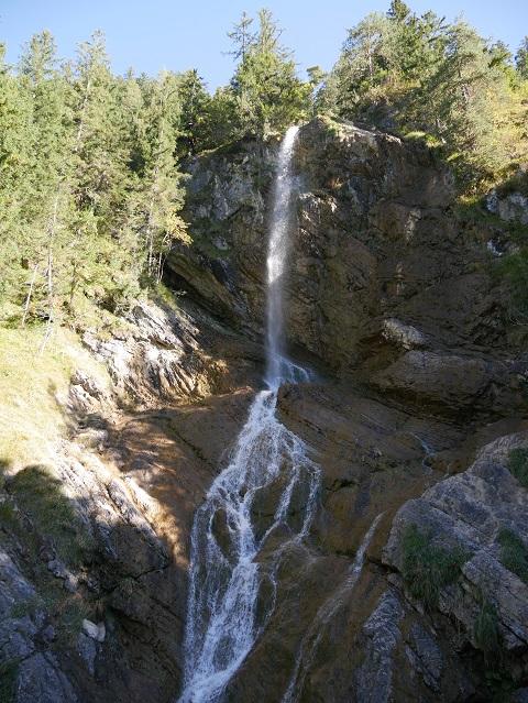 der Zifelsbbach-Wasserfall bei Hinterstein