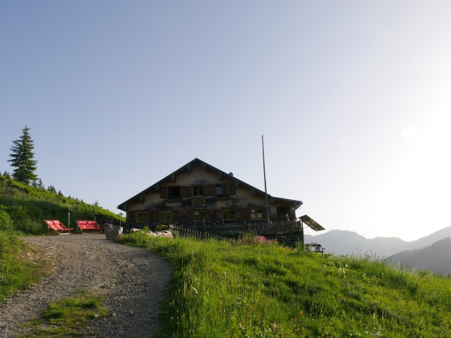 die Burgl-Hütte bei Balderschwang