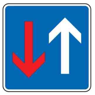 Vorrang vor dem Gegenverkehr - Verkehrszeichen nach StVO
