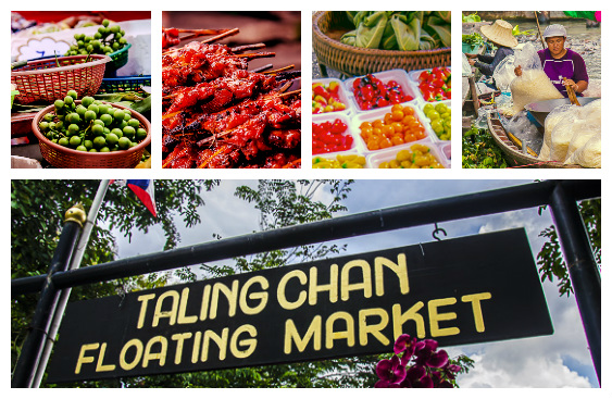 Taling Chan Floating Market Sign