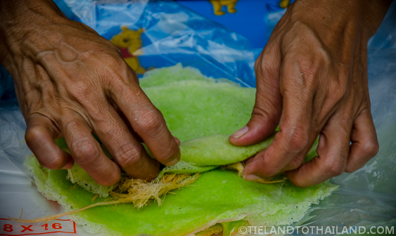 Taling Chan Floating Market Roti Sai Mai Pancake
