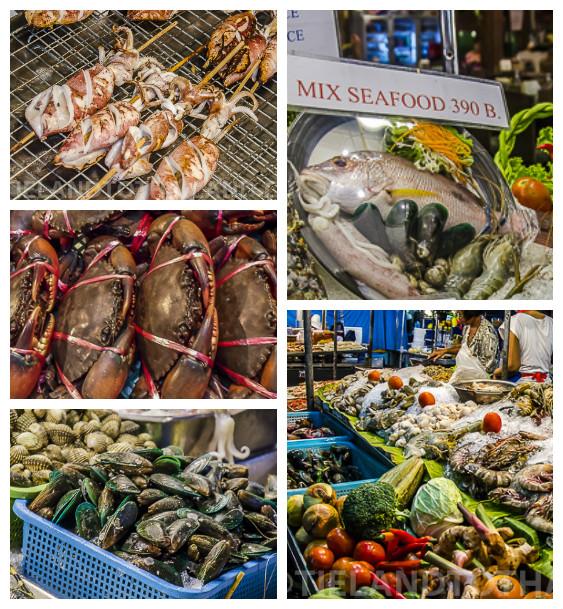 Hua Hin Night Market to eat seafood in Hua Hin Thailand