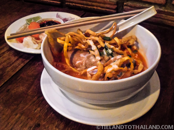 Khao Soi ข้าวซอย Northern Curry Noodles with Chicken and Coconut Milk