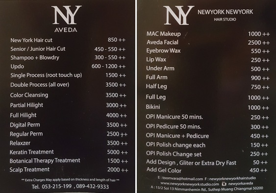 Chiang Mai Hair Salon Review New York New York Tieland To Thailand