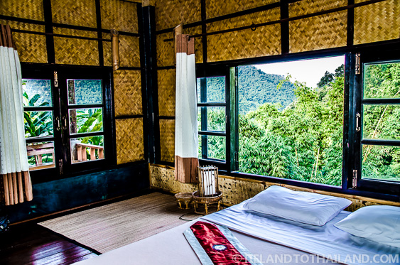 Interior of our Bungalow in Mae Salong, Thailand