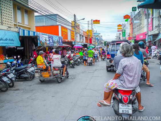 Traffic in Hua Hin