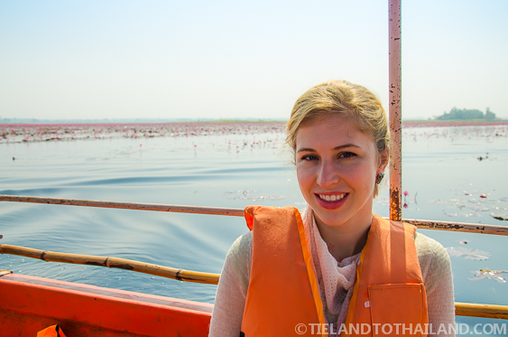 Passenger on the Red Lotus Sea Boat in Udon Thani, Thailand