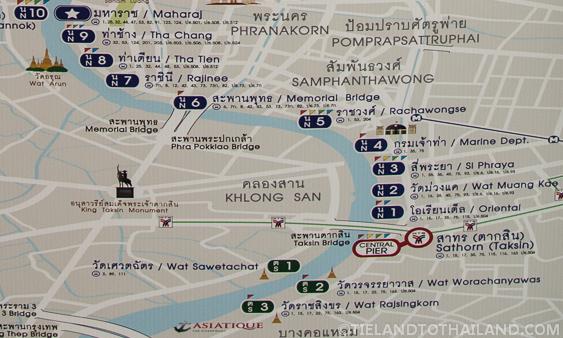 Chao Phraya Express Boat Map