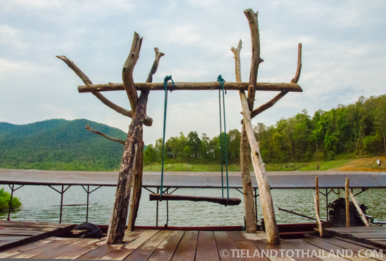 Mae Ngat Dam Floating Houses Deck Swing