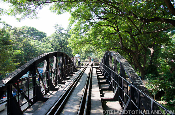 Trees overshadowing the Bridge on the River Kwai