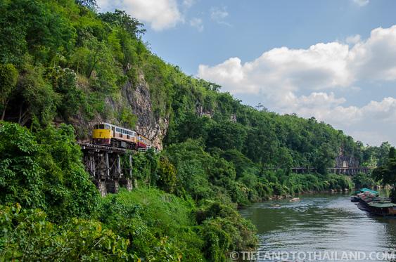 Thailand-Burma Railway hugging the mountainside