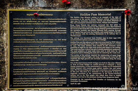 Hellfire Pass Memorial