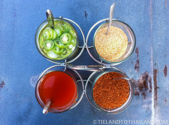 Chilies in Vinegar, Brown Sugar, Red Chilies, Smoked Chili Powder