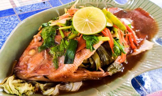 Fresh fish at Huay Tung Tao Lake