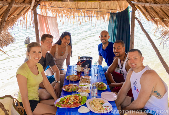 Food and Drinks with Friends at Huay Tung Tao Lake in Chiang Mai, Thailand