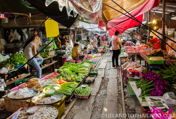 Like any other day at the Maeklong Railway Market