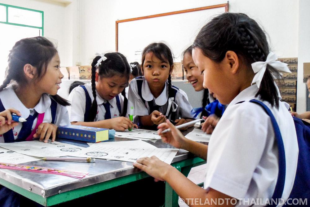 Goofy Thai students in Chiang Mai, Thailand