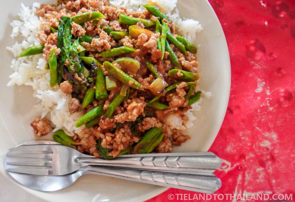 Pad Prik Gaeng, a spicy Thai dish