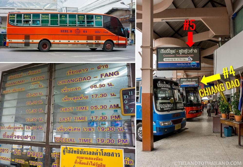 Fan (non AC) Bus Schedule from Chiang Mai to Chiang Dao