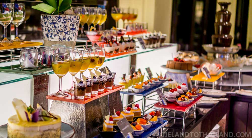 Delectable desserts at The Sukosol's International Dinner Buffet