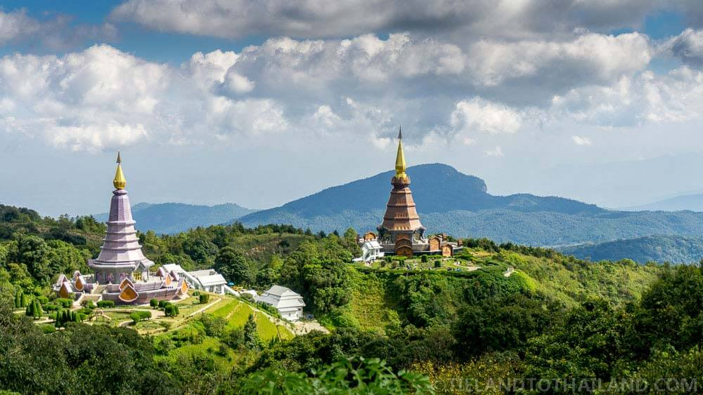 Can't miss sight during a trip to Doi Inthanon: Royal Twin Pagoda