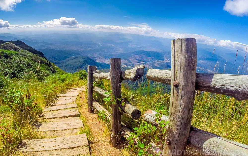Trail along Thailand's highest mountain, Doi Inthanon
