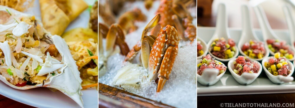 Seafood delights at the Sunday Brunch at Nikki Beach Koh Samui