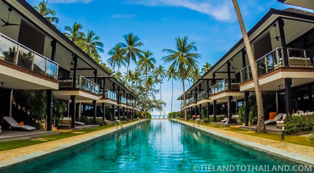 75m long pool at Nikki Beach Koh Samui