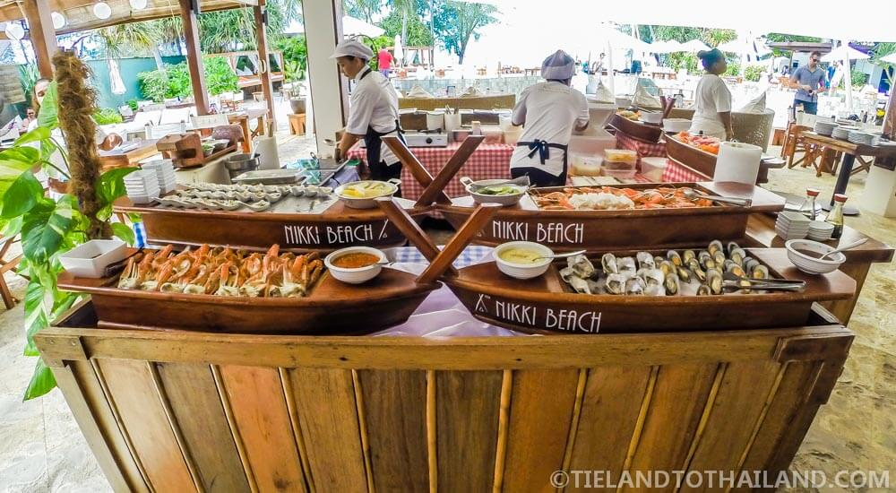Chilled seafood delights at the Sunday Brunch at Nikki Beach Koh Samui