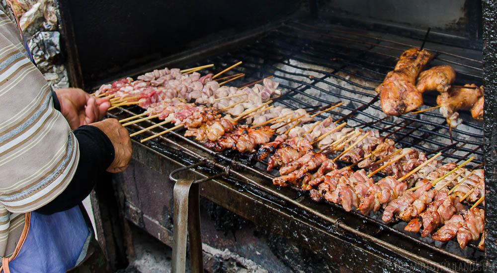 Hot of the grill! Thai meat skewers that are safe to eat