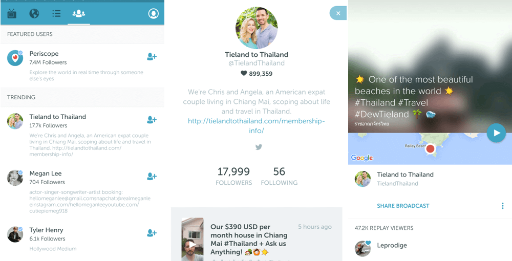 Explore Thailand on Periscope