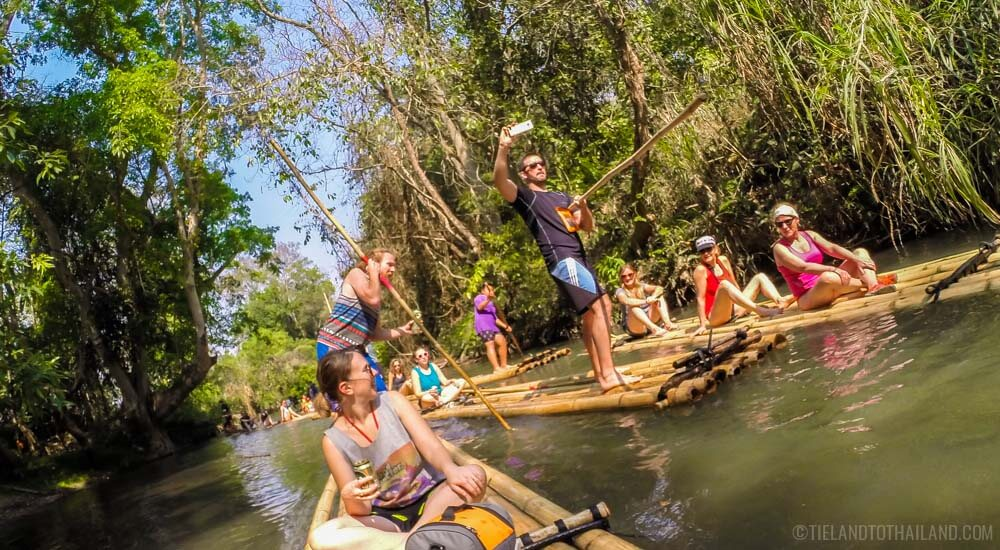 Thailand Travel on Periscope - Bamboo rafting in Chiang Mai