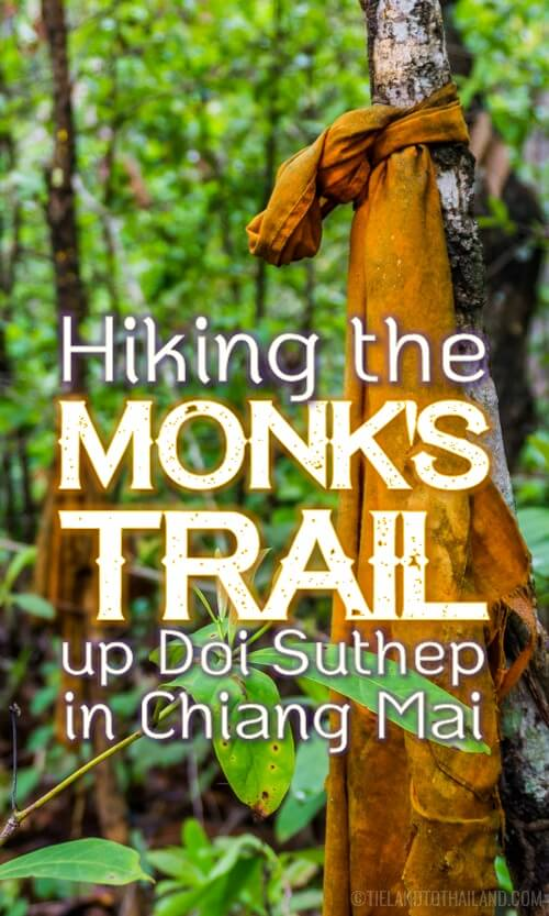 Everything you need to know to hike the monk's trail to the hidden Wat Pha Lat on Doi Suthep. Chiang Mai, Thailand | Tieland to Thailand