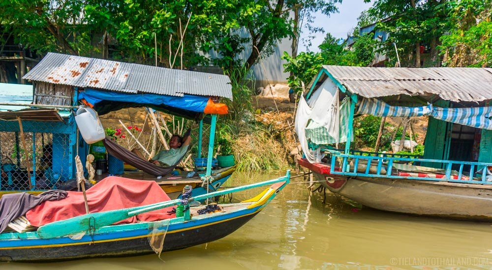 House boats on the Mekong River